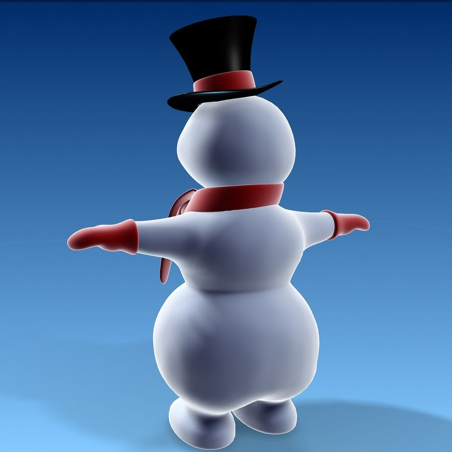 snowman royalty-free 3d model - Preview no. 5