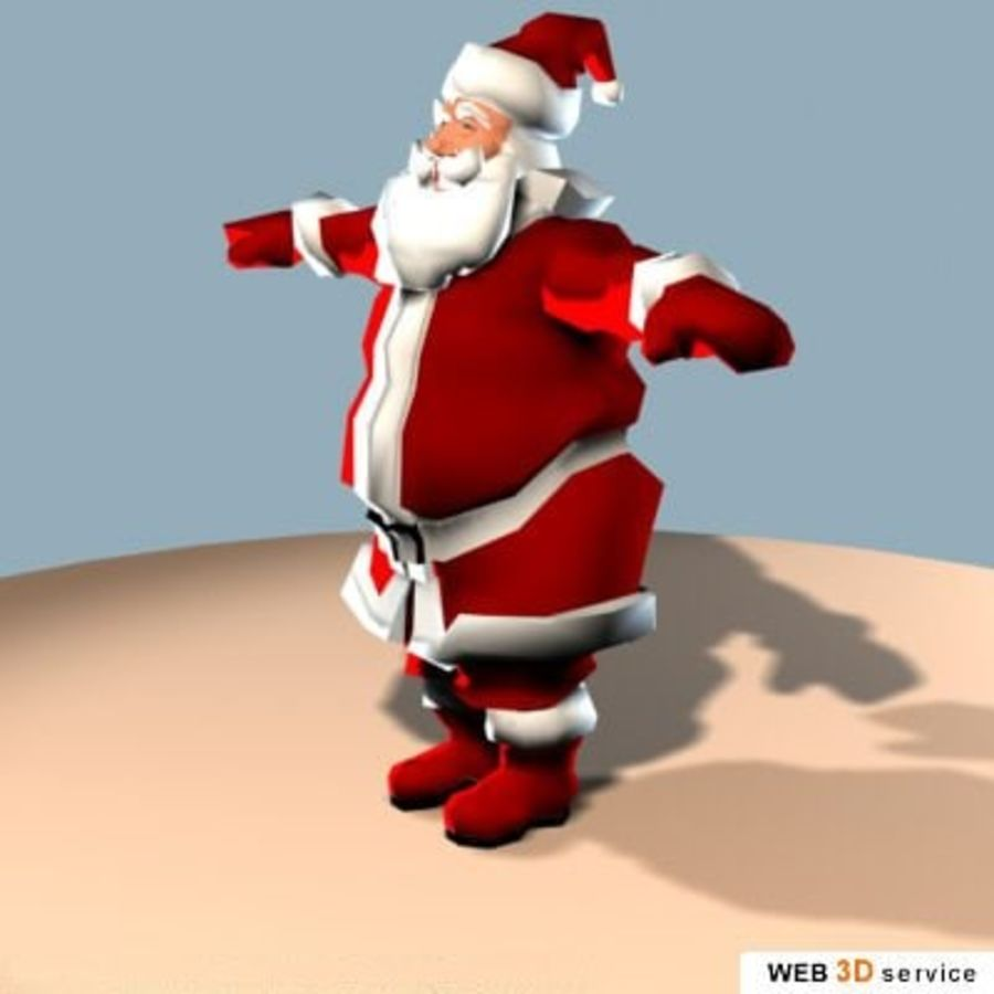 3DS_SantaClaus.3DS royalty-free 3d model - Preview no. 2
