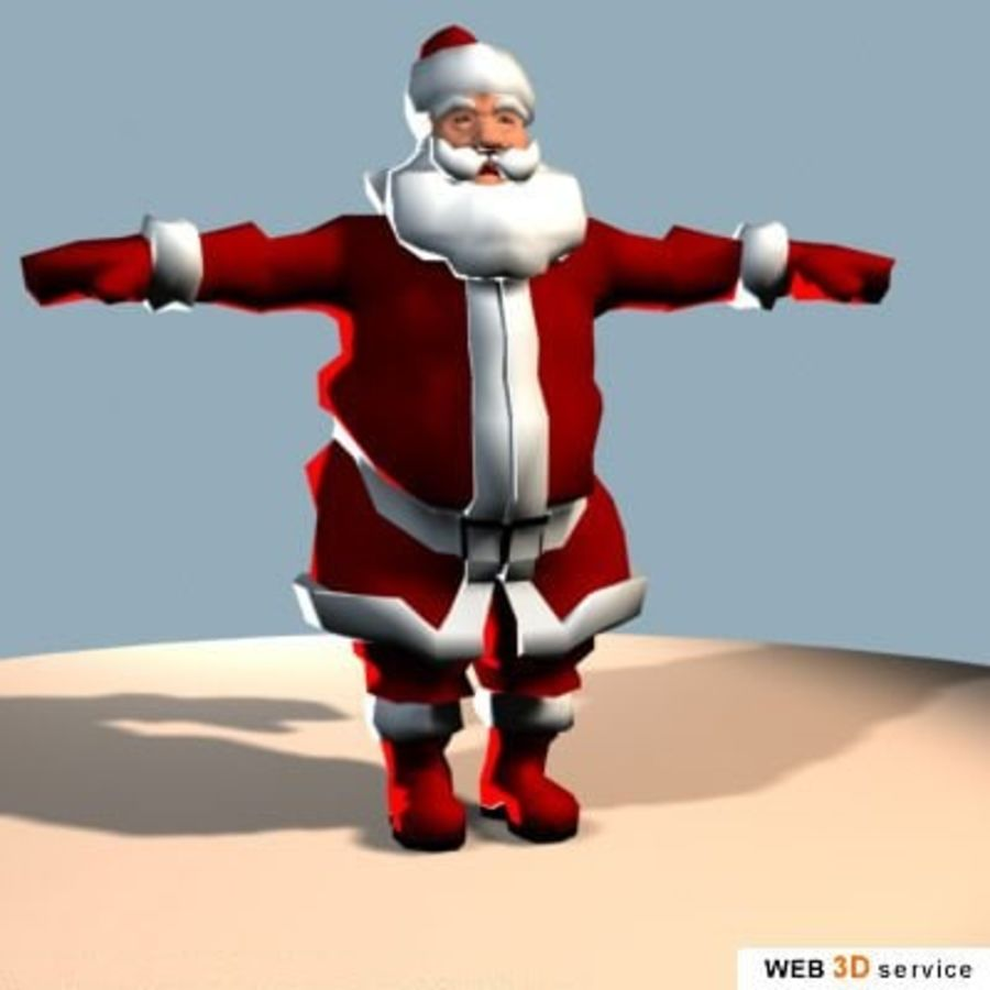 3DS_SantaClaus.3DS royalty-free 3d model - Preview no. 1