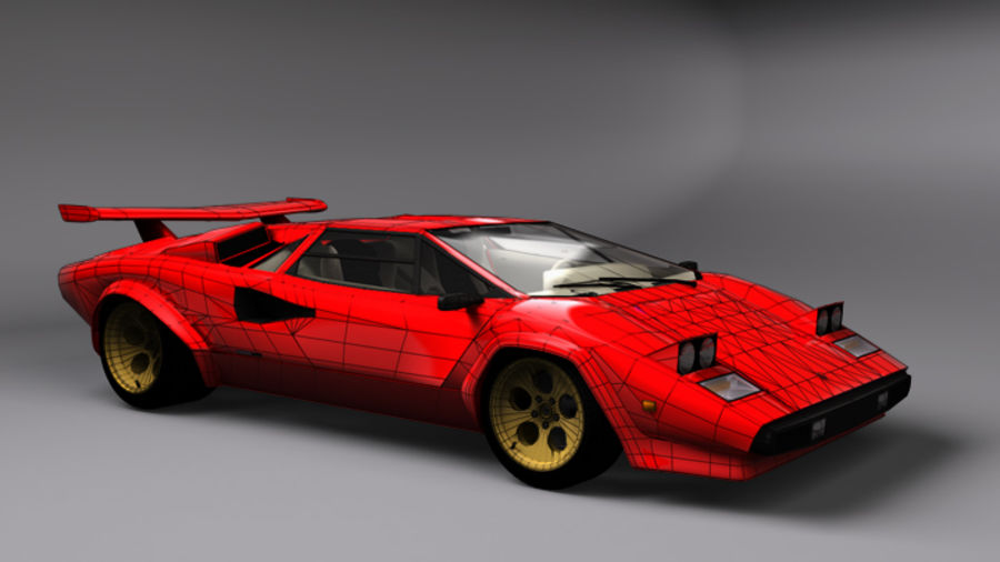 Lamborghini Countach (Walter Wolf custom) royalty-free 3d model - Preview no. 1