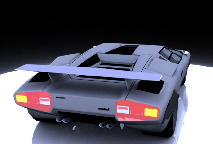 Lamborghini Countach (Walter Wolf custom) royalty-free 3d model - Preview no. 8