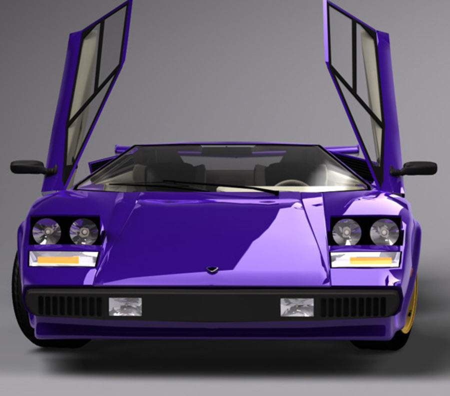 Lamborghini Countach (Walter Wolf custom) royalty-free 3d model - Preview no. 2