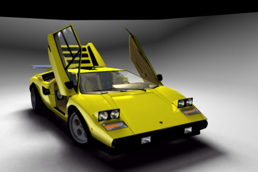 Lamborghini Countach (Walter Wolf custom) royalty-free 3d model - Preview no. 3