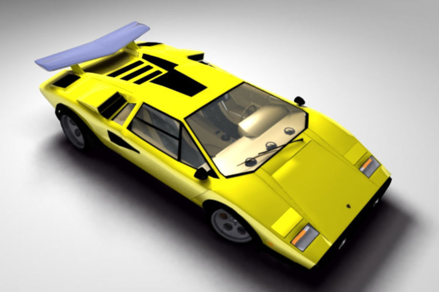 Lamborghini Countach (Walter Wolf custom) royalty-free 3d model - Preview no. 5