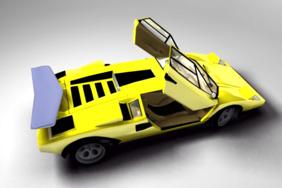 Lamborghini Countach (Walter Wolf custom) royalty-free 3d model - Preview no. 4
