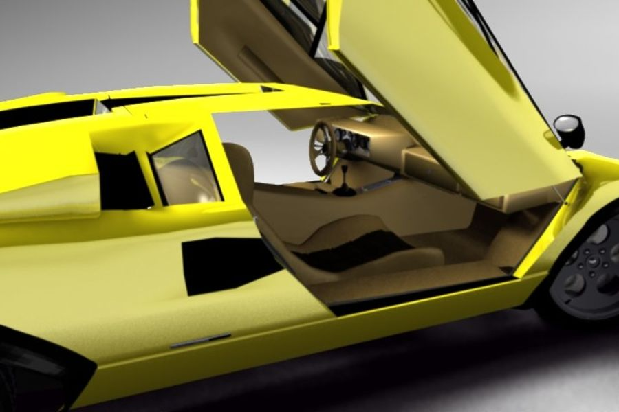 Lamborghini Countach (Walter Wolf custom) royalty-free 3d model - Preview no. 7