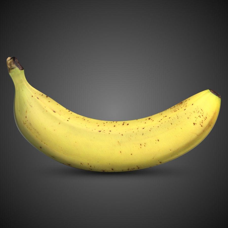 Banana Fruit royalty-free 3d model - Preview no. 2