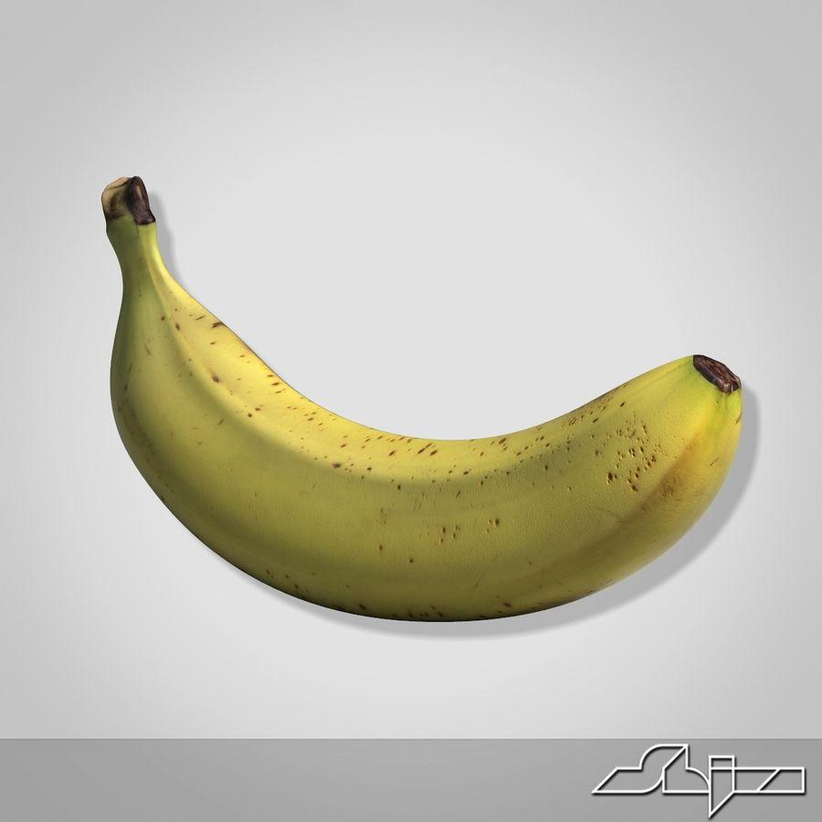 Banana Fruit royalty-free 3d model - Preview no. 5