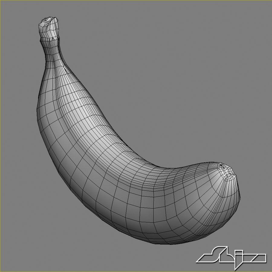 Banana Fruit royalty-free 3d model - Preview no. 7