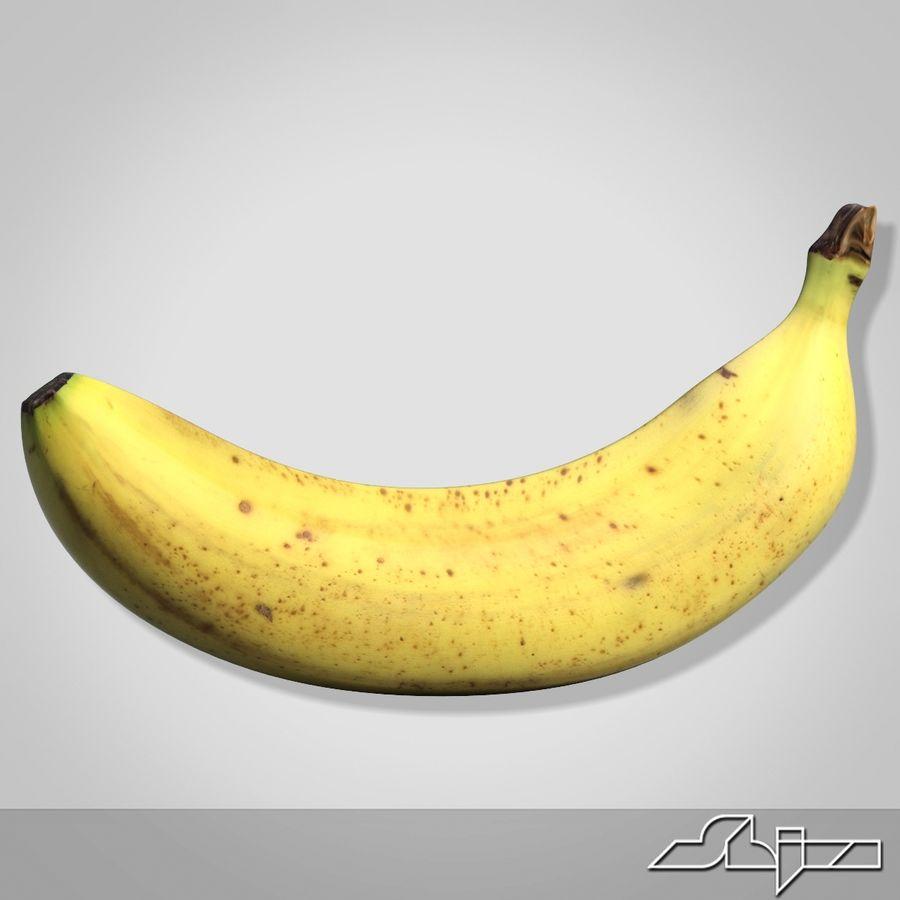 Banana Fruit royalty-free 3d model - Preview no. 4