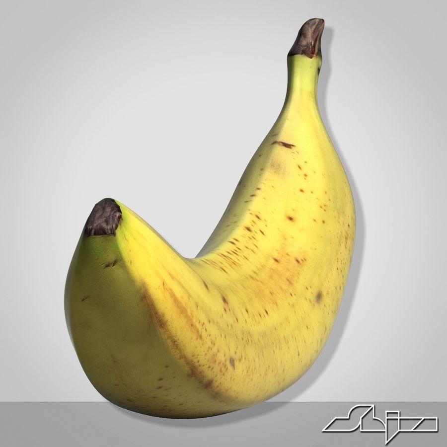 Banana Fruit royalty-free 3d model - Preview no. 3