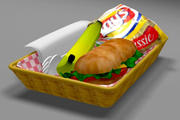 food basket 3d model