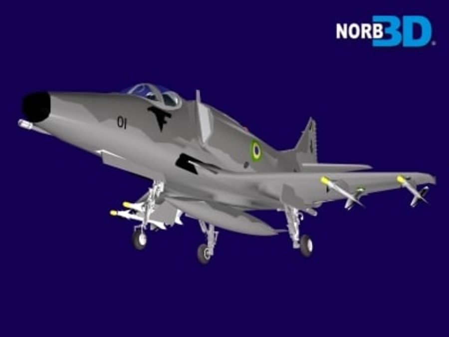 AF1 Skyhawk royalty-free 3d model - Preview no. 1