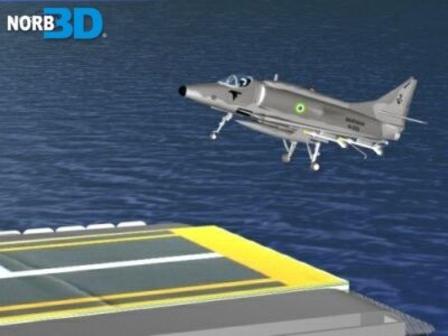 AF1 Skyhawk royalty-free 3d model - Preview no. 7