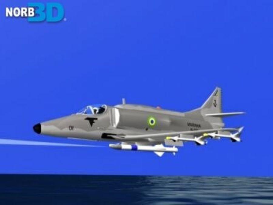 AF1 Skyhawk royalty-free 3d model - Preview no. 3