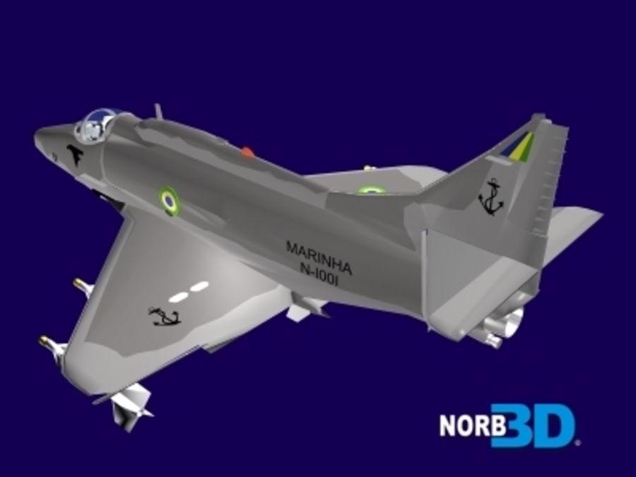 AF1 Skyhawk royalty-free 3d model - Preview no. 6