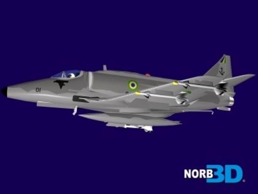 AF1 Skyhawk royalty-free 3d model - Preview no. 5