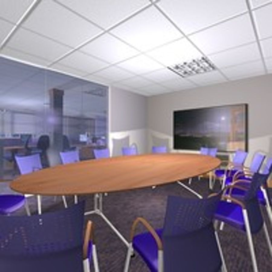 Office Interior 23 royalty-free 3d model - Preview no. 6