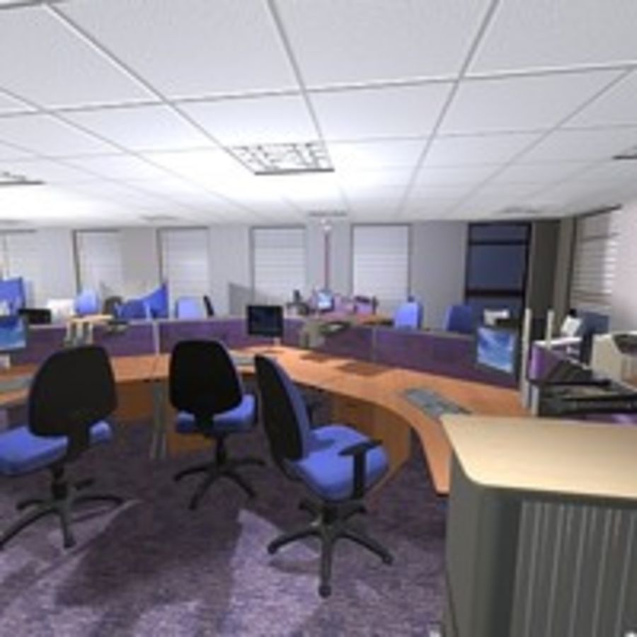 Office Interior 23 royalty-free 3d model - Preview no. 11