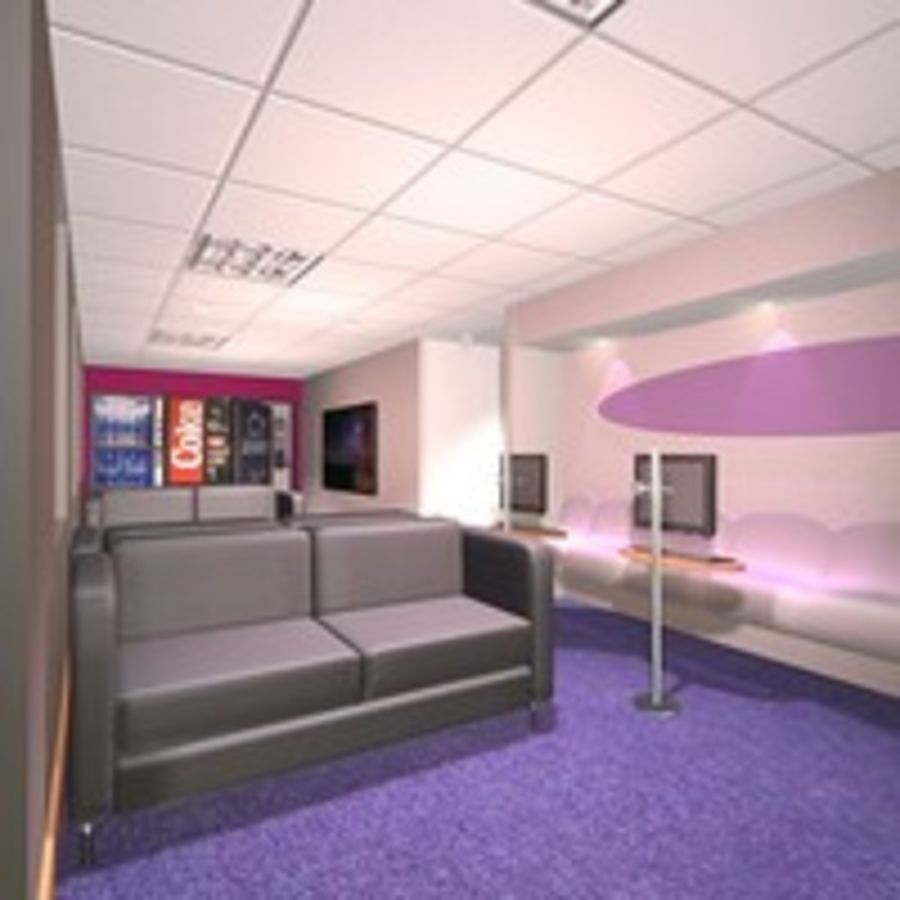 Office Interior 23 royalty-free 3d model - Preview no. 9