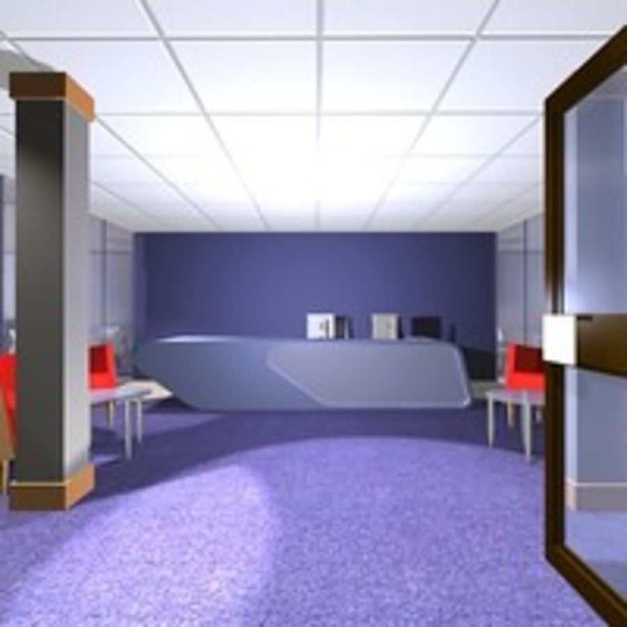Office Interior 23 royalty-free 3d model - Preview no. 5