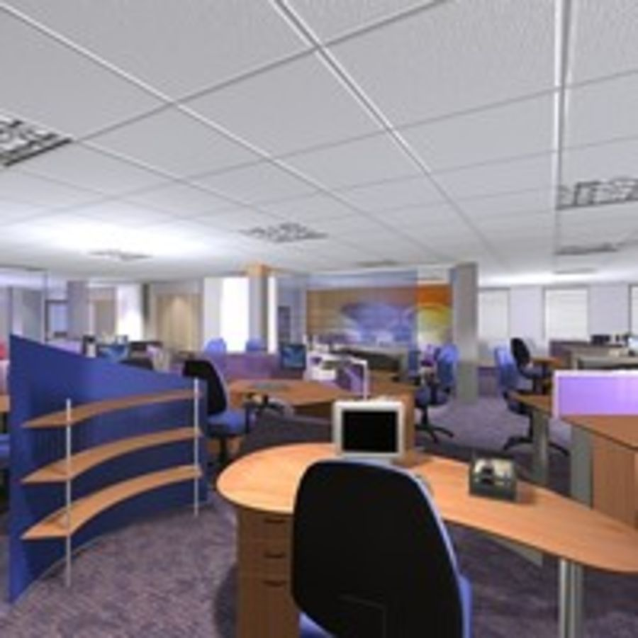 Office Interior 23 royalty-free 3d model - Preview no. 7