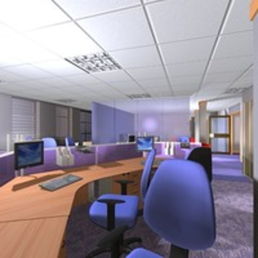 Office Interior 23 royalty-free 3d model - Preview no. 8