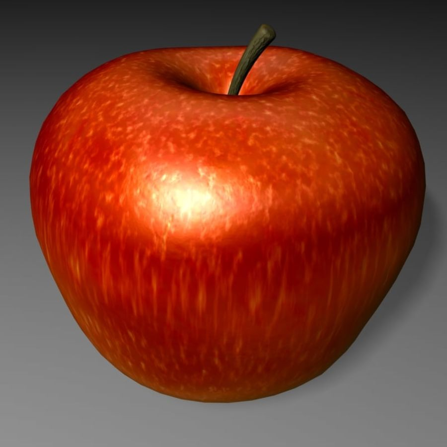 Apfel royalty-free 3d model - Preview no. 1