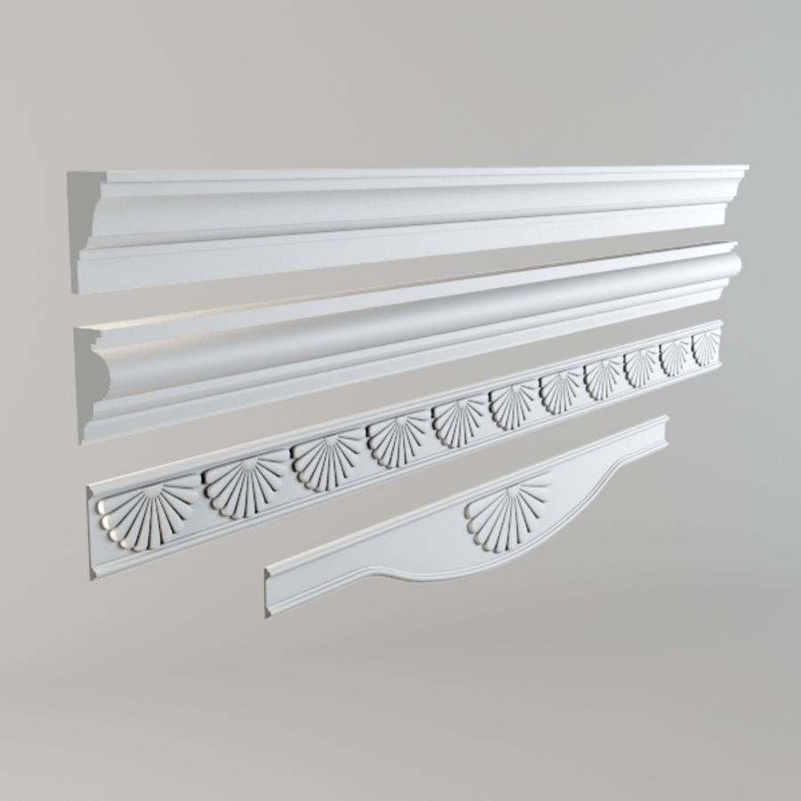 Cornice001.ZIP royalty-free 3d model - Preview no. 1