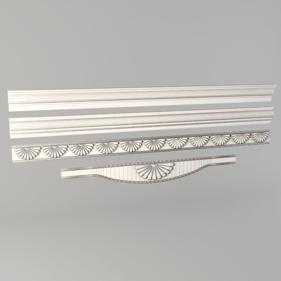 Cornice001.ZIP royalty-free 3d model - Preview no. 3