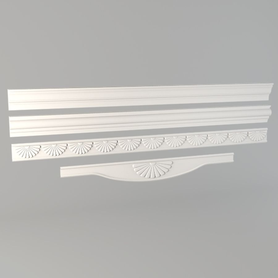 Cornice001.ZIP royalty-free 3d model - Preview no. 2