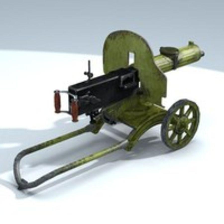 Maxim machine gun royalty-free 3d model - Preview no. 5