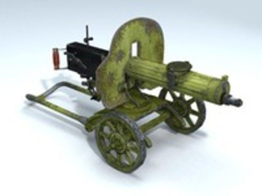 Maxim machine gun royalty-free 3d model - Preview no. 1