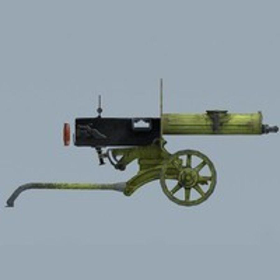 Maxim machine gun royalty-free 3d model - Preview no. 3