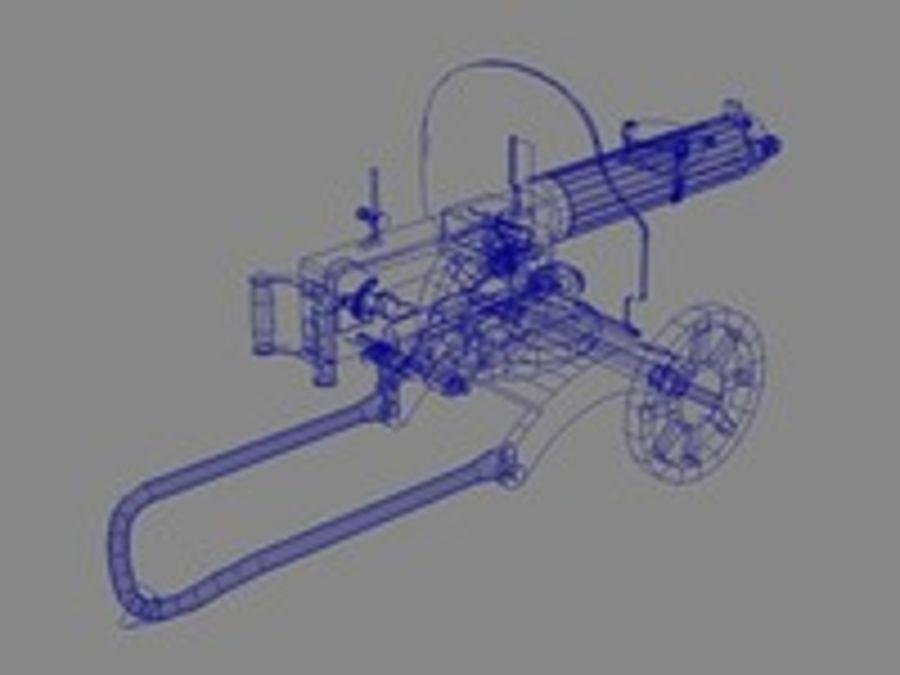 Maxim machine gun royalty-free 3d model - Preview no. 6
