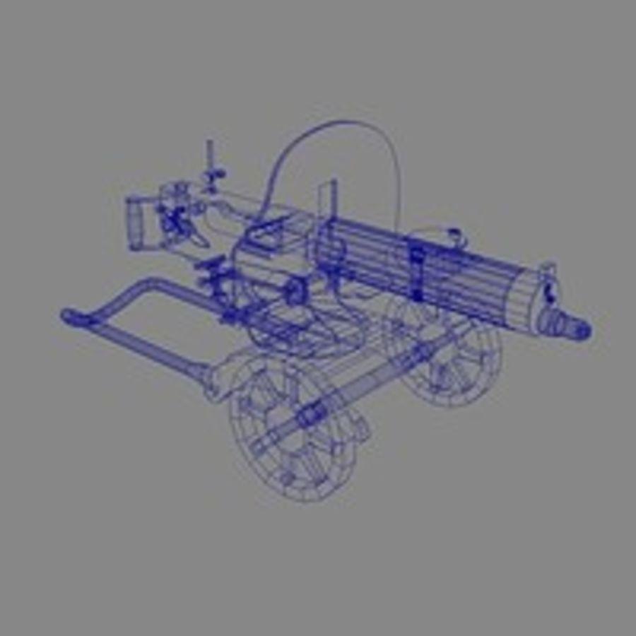 Maxim machine gun royalty-free 3d model - Preview no. 2