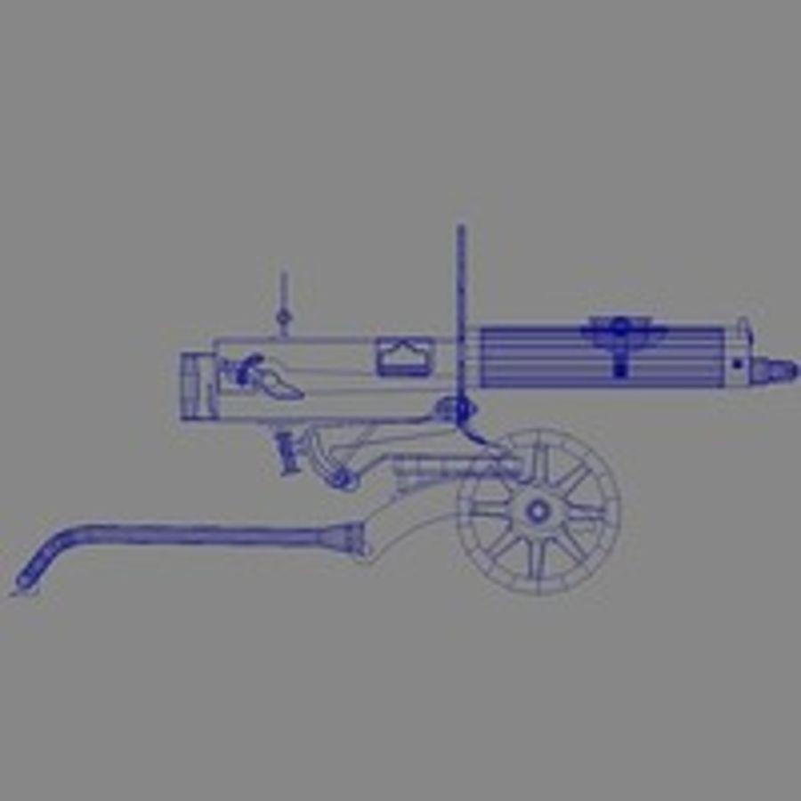 Maxim machine gun royalty-free 3d model - Preview no. 4