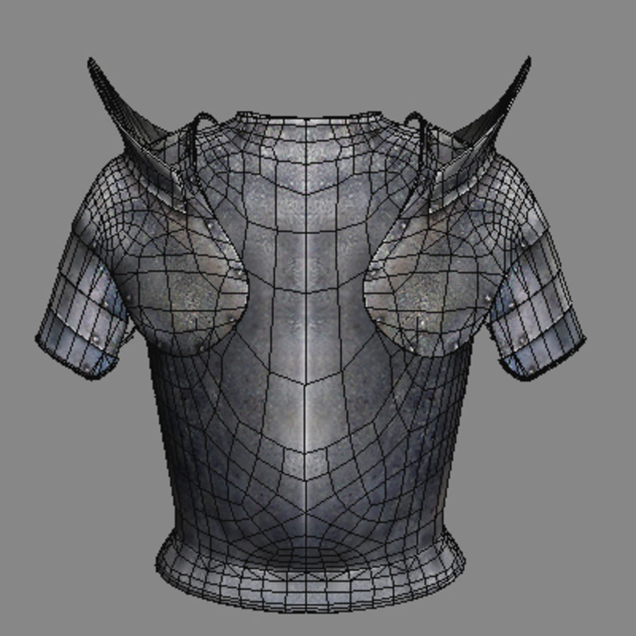 armor.3DS royalty-free 3d model - Preview no. 15