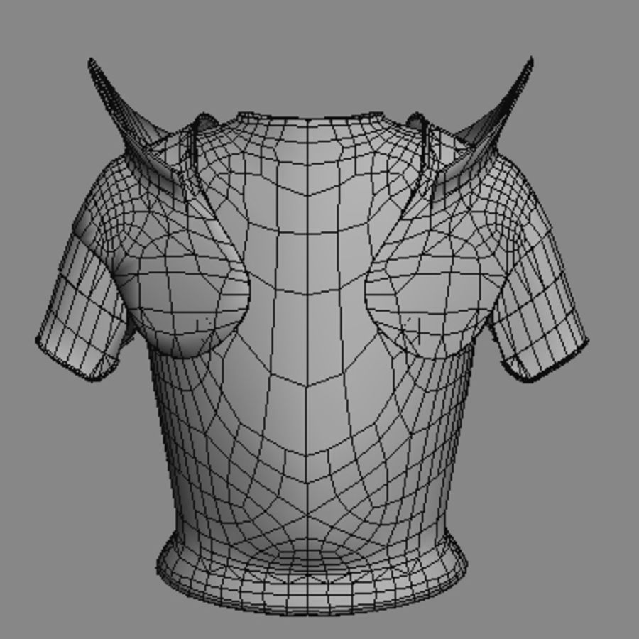 armor.3DS royalty-free 3d model - Preview no. 2
