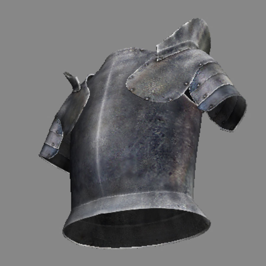 armor.3DS royalty-free 3d model - Preview no. 5