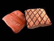 salmón modelo 3d