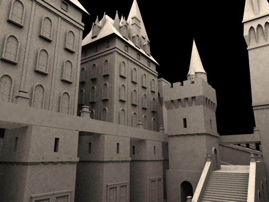 Medieval Castle Fortress With Moat royalty-free 3d model - Preview no. 4
