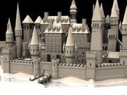 Medieval Castle Fortress With Moat 3d model