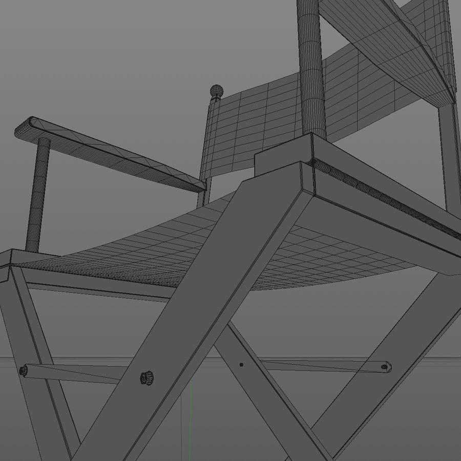 Direktörsstol royalty-free 3d model - Preview no. 8