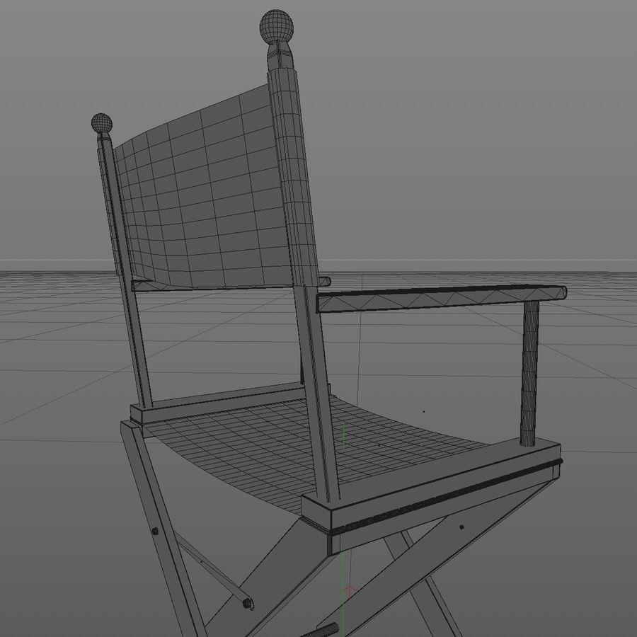 Direktörsstol royalty-free 3d model - Preview no. 10