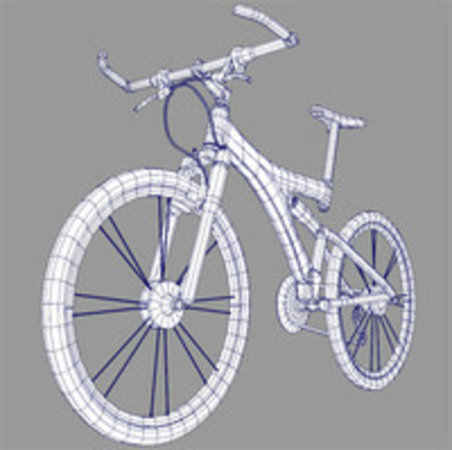 mountain bike royalty-free 3d model - Preview no. 1