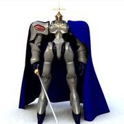 Cavaleiro medieval cavaleiro escuro 3d model