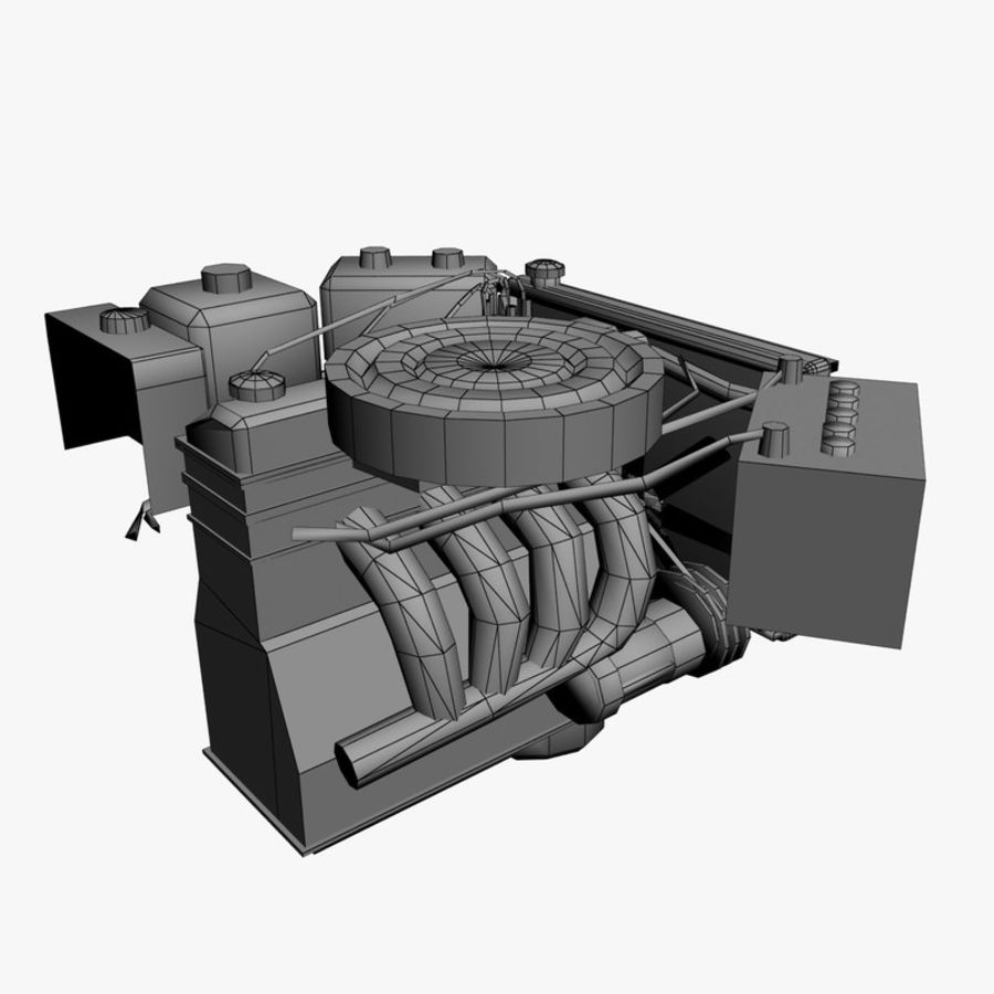 VAZ Engine royalty-free 3d model - Preview no. 8