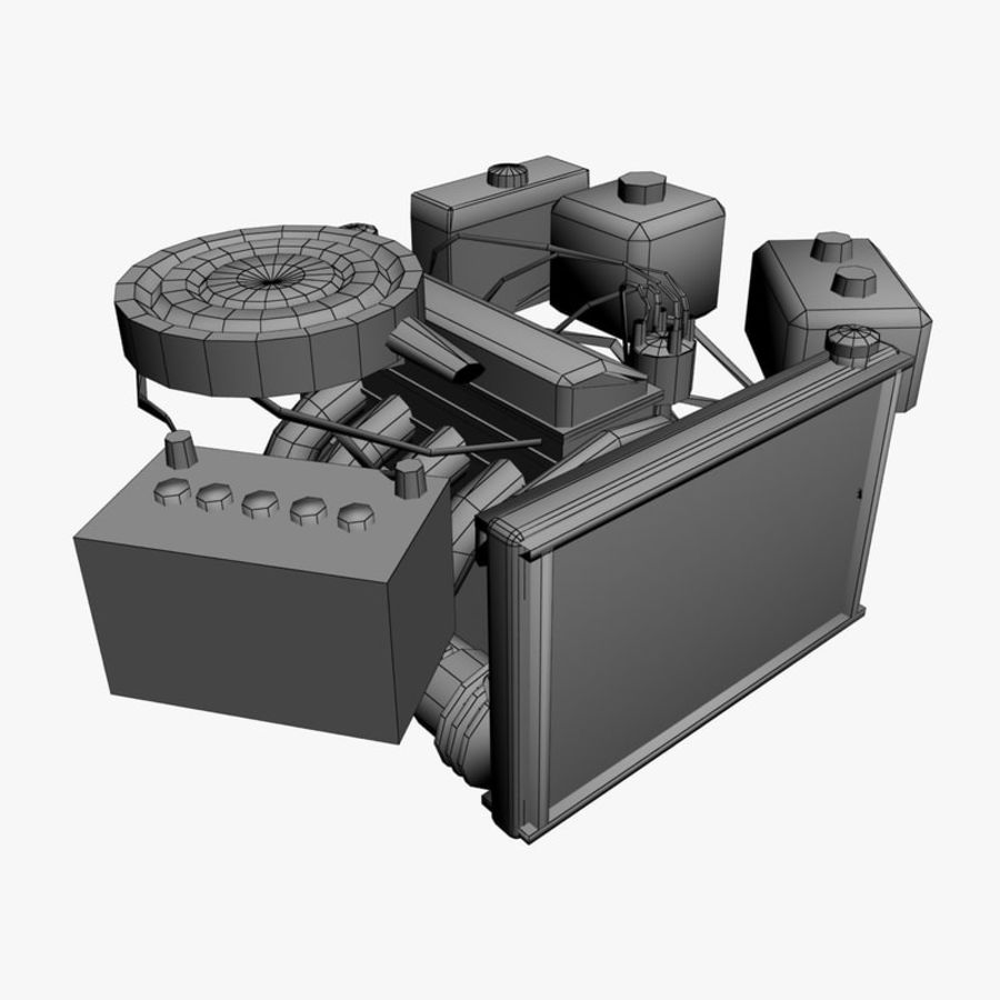 VAZ Engine royalty-free 3d model - Preview no. 7