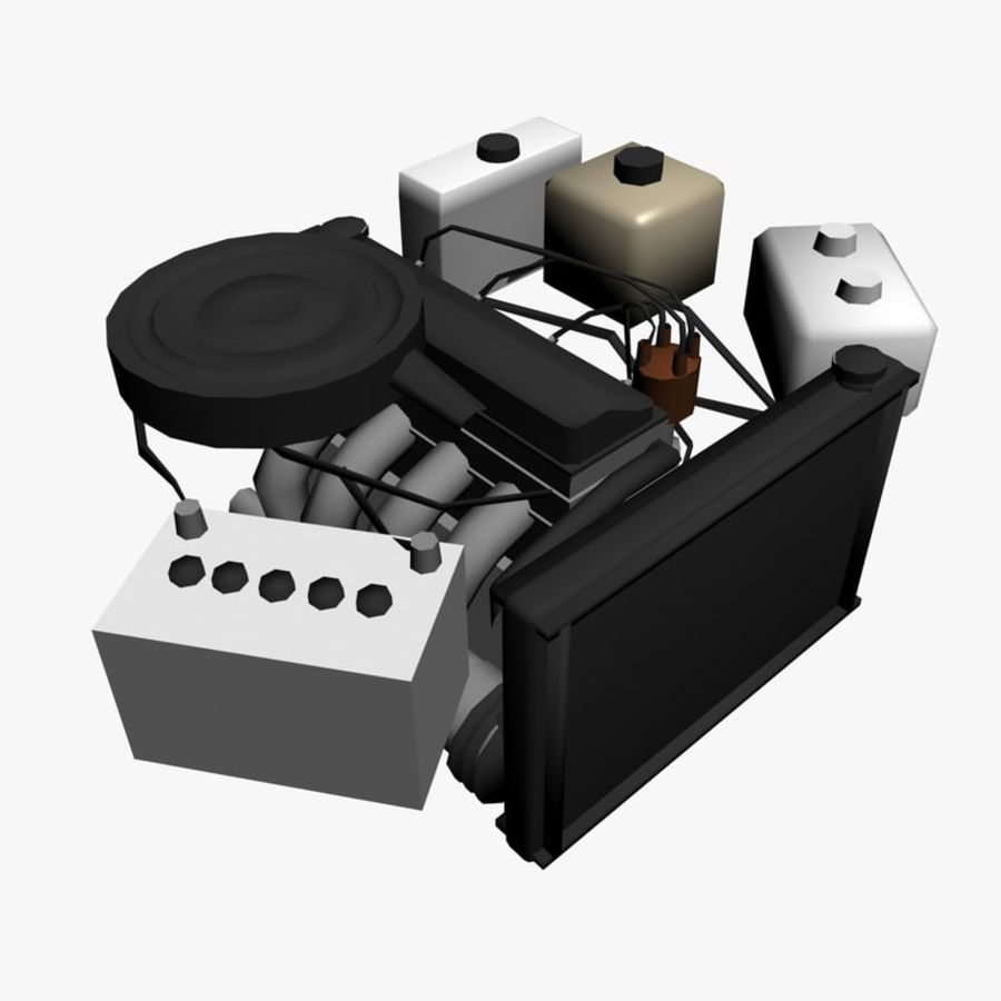 VAZ Engine royalty-free 3d model - Preview no. 2